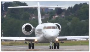 Bombardier BD-700 jet plane bill gates