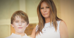 donald trump son barron wife melania