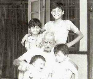 arnab goswami childhood photo
