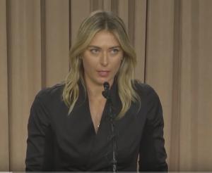maria sharapova drug meldonium confession press conference