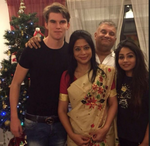 Peter Mukherjea with Family