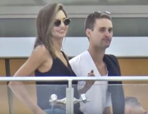 Evan Spiegel with girlfriend Miranda Kerr