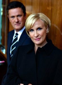 Joe Scarborough with wife with Mika Brzezinski