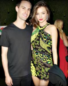 Miranda Kerr with boyfriend Evan Spiegel