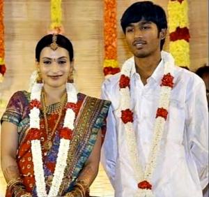 Rajinikanth daughter Aishwarya with husband Dhanush