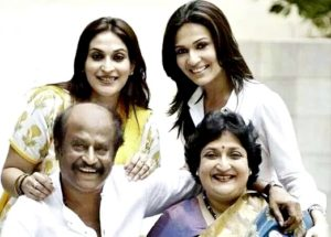 Rajinikanth with Family