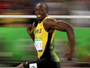 Usain Bolt smiling