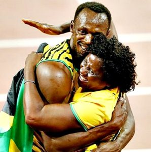 Usain Bolt's mother