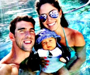 michael phelps with wife and son